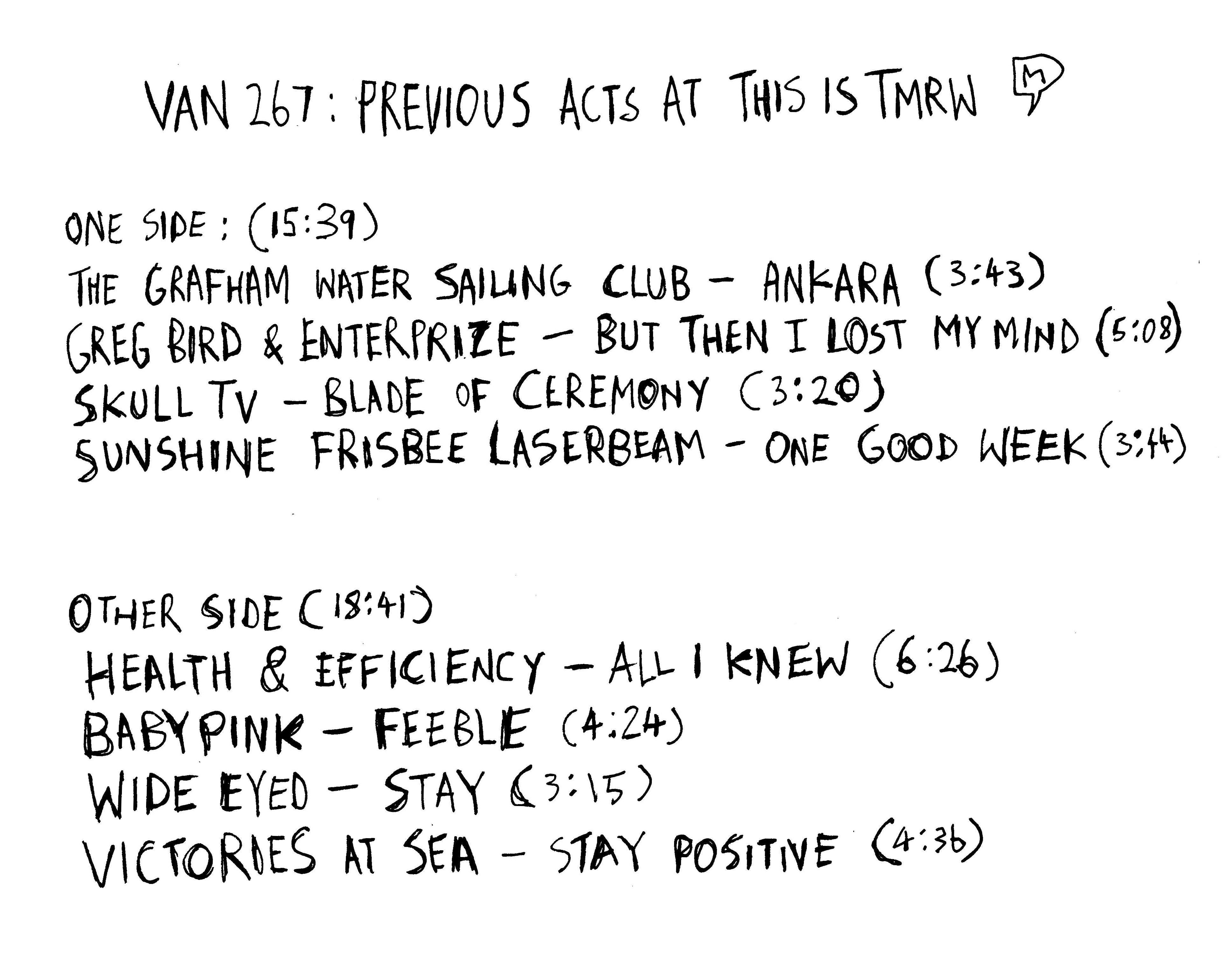 cassette tracklist